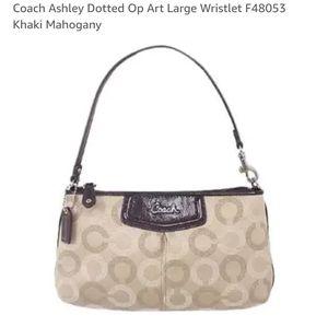 NWT Coach Ashley large wristlet